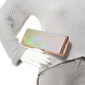 Gucci Crackled Metallic Leather Broadway Clutch